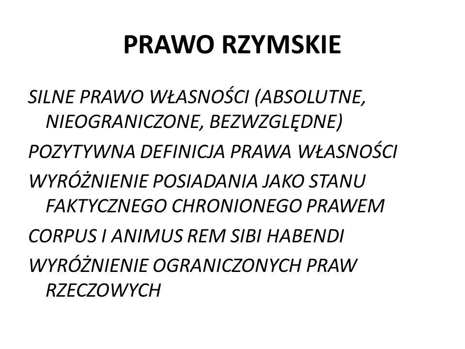 PRAWO RZYMSKIE