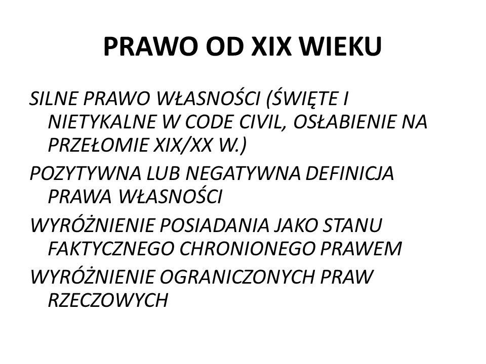 PRAWO OD XIX WIEKU