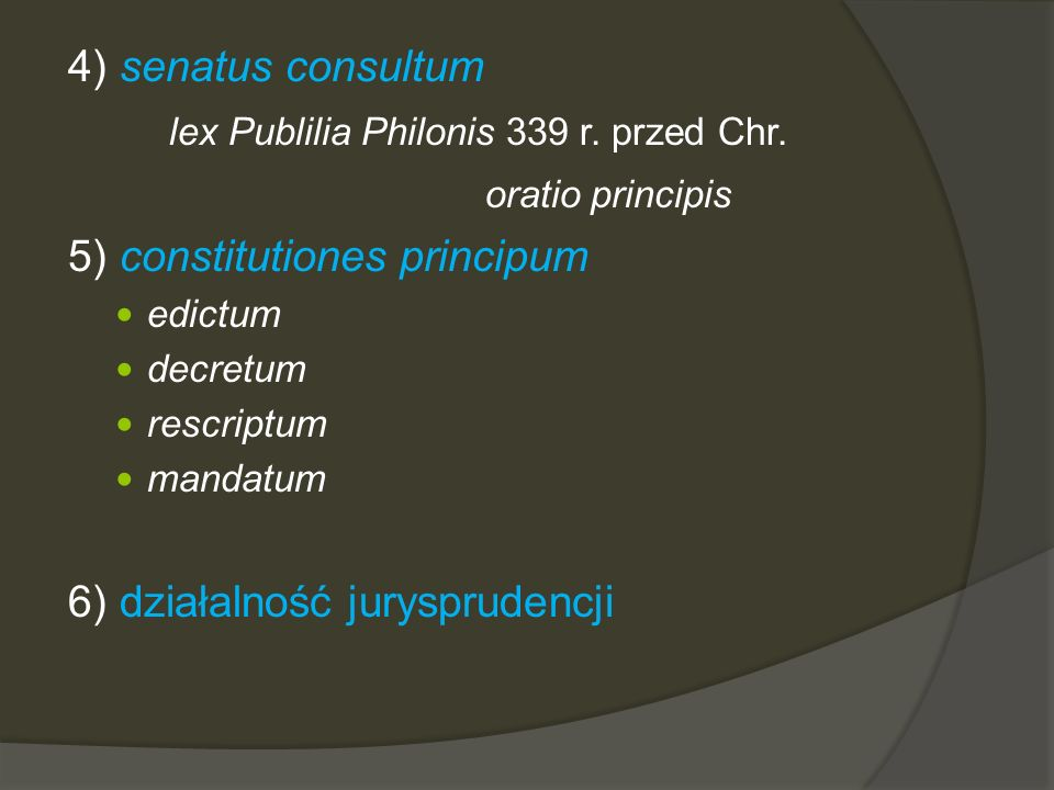 lex Publilia Philonis 339 r. przed Chr. oratio principis