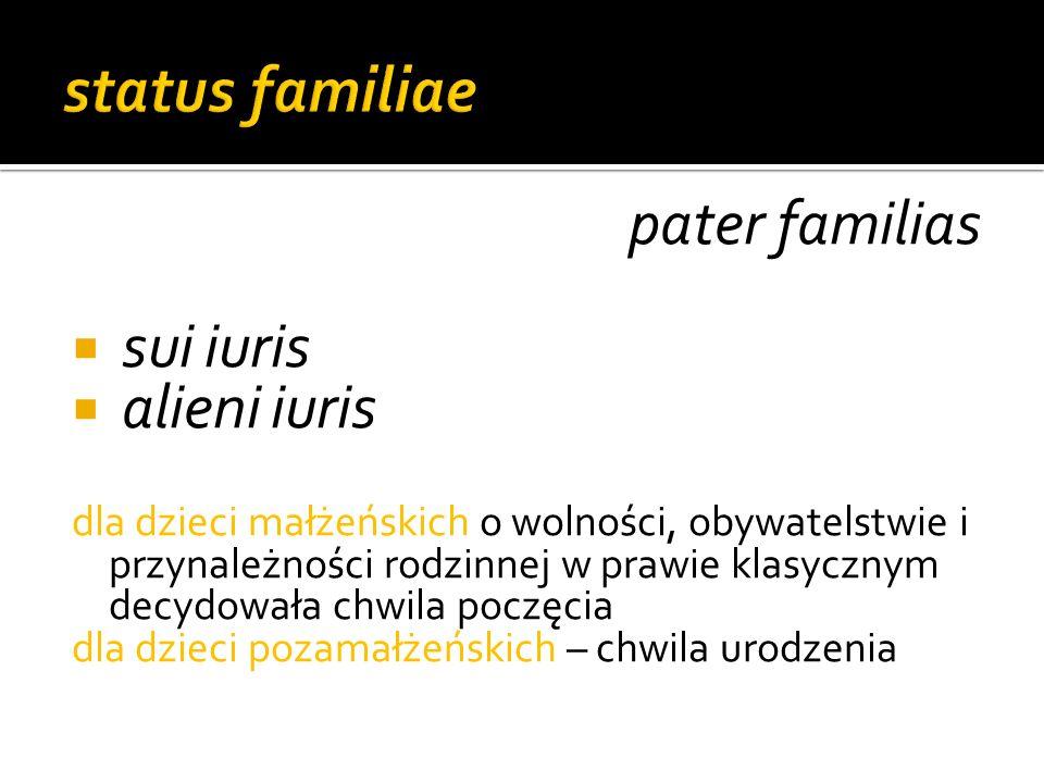 status familiae pater familias sui iuris alieni iuris
