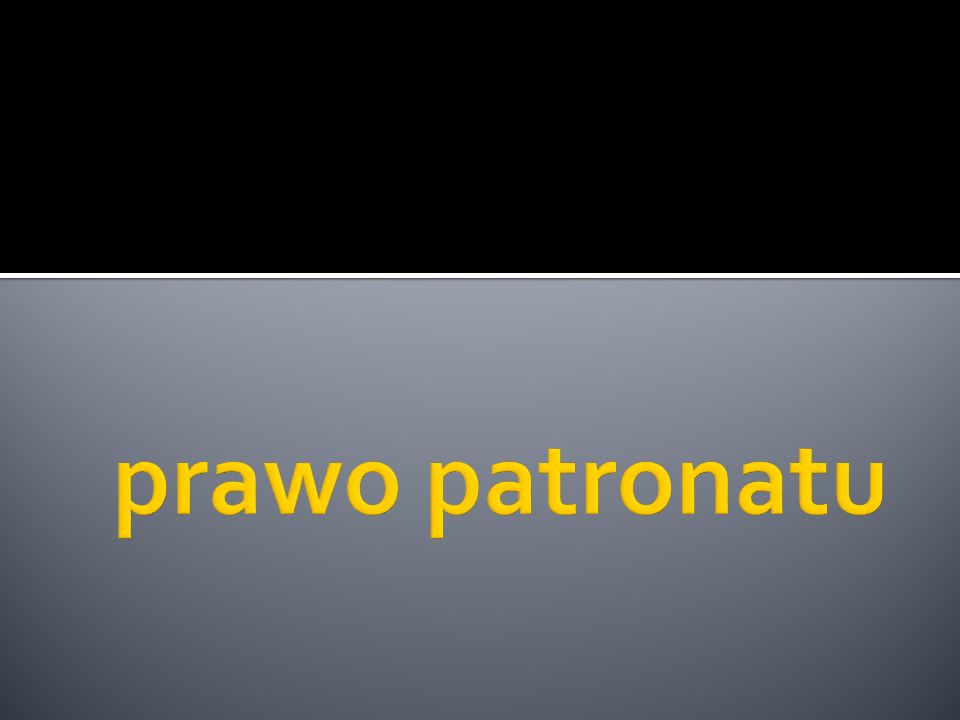 prawo patronatu