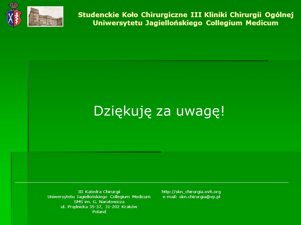 Studenckie Koło Chirurgiczne III Kliniki Chirurgii Ogólnej Uniwersytetu Jagiellońskiego Collegium Medicum