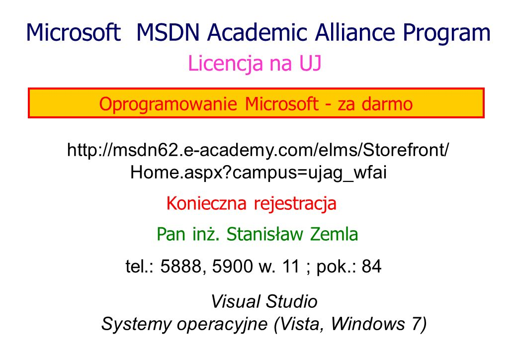 Microsoft MSDN Academic Alliance Program