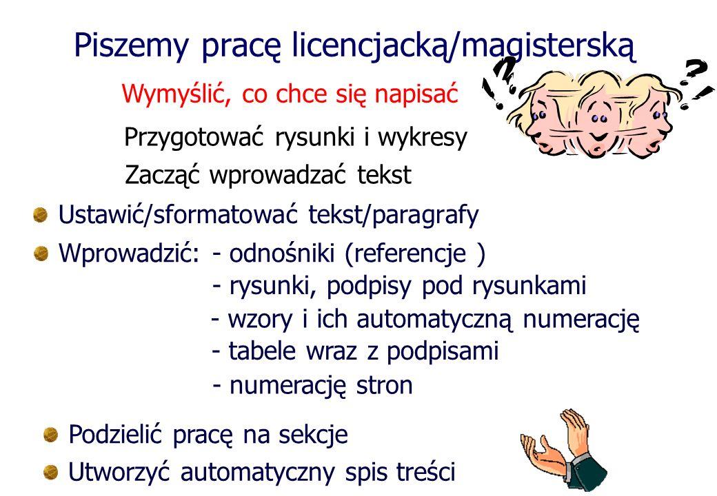 Piszemy pracę licencjacką/magisterską
