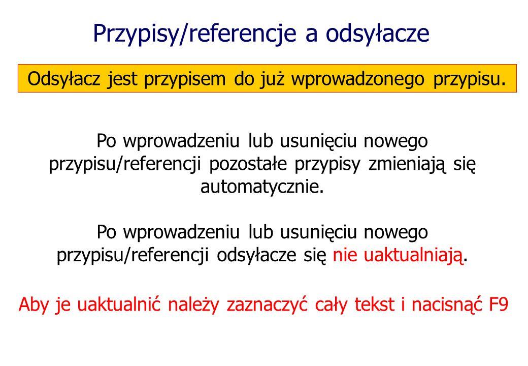 Przypisy/referencje a odsyłacze