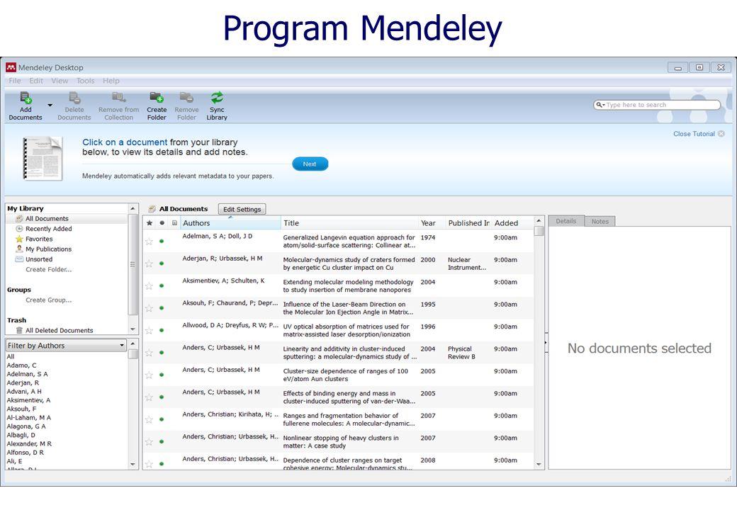 Program Mendeley