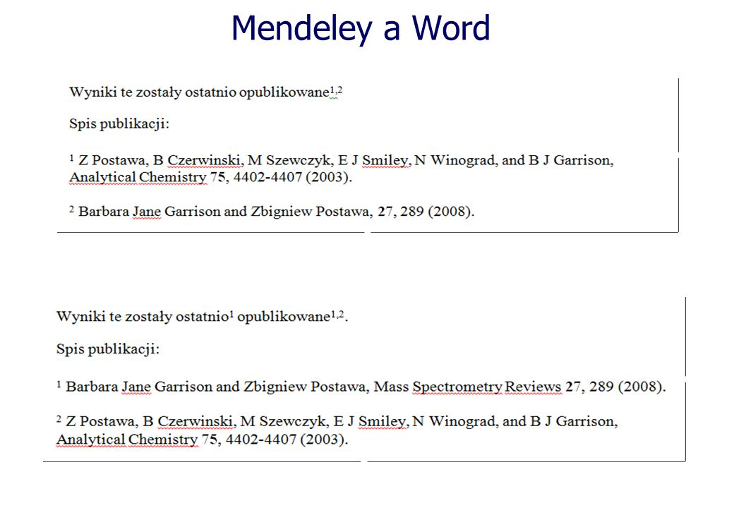 Mendeley a Word