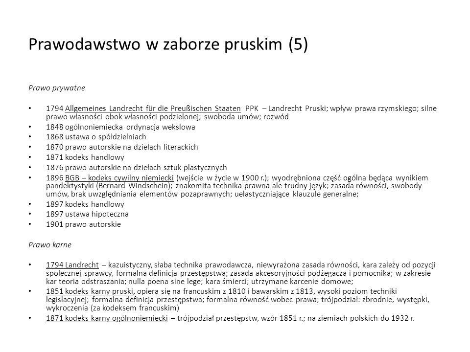 Prawodawstwo w zaborze pruskim (5)