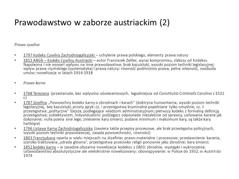 Prawodawstwo w zaborze austriackim (2)
