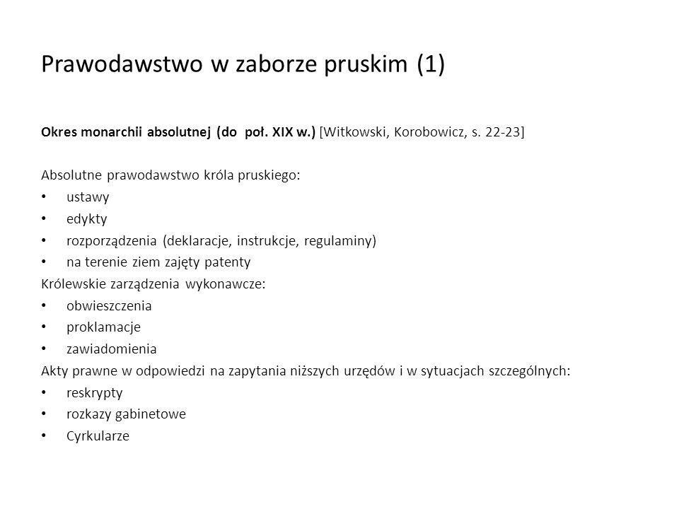 Prawodawstwo w zaborze pruskim (1)