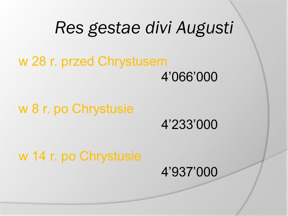 Rodzina i maj tek wyk ad ii ppt pobierz - Res gestae divi augusti ...