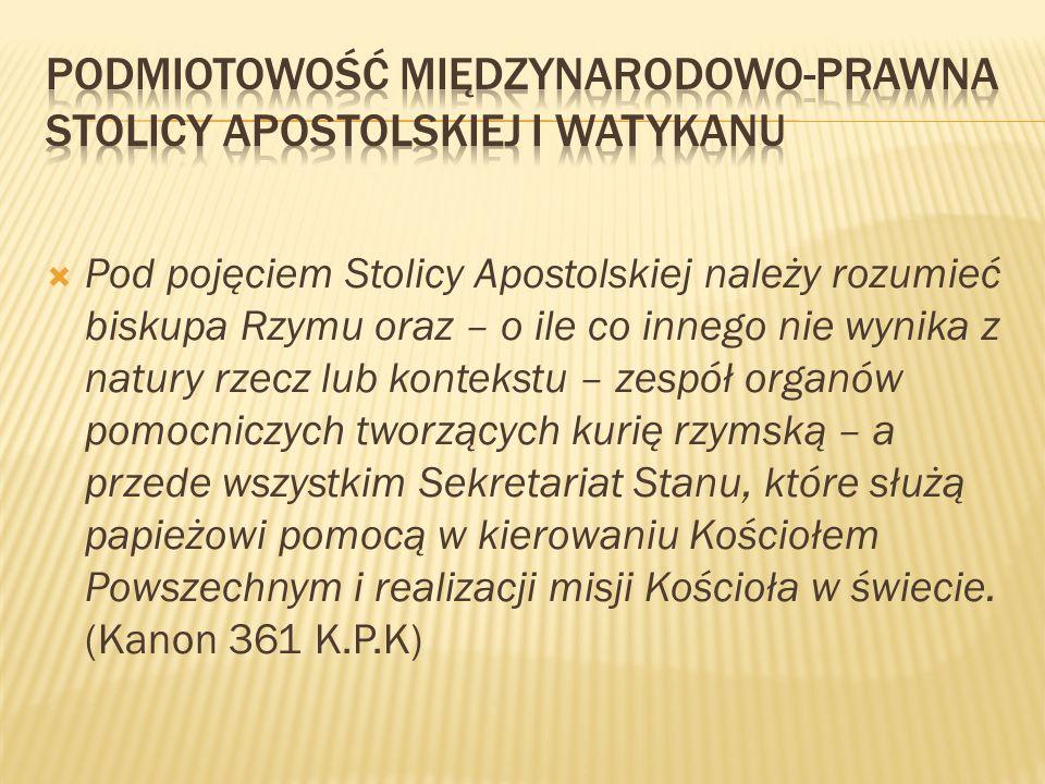 Podmiotowość międzynarodowo-prawna Stolicy Apostolskiej i Watykanu