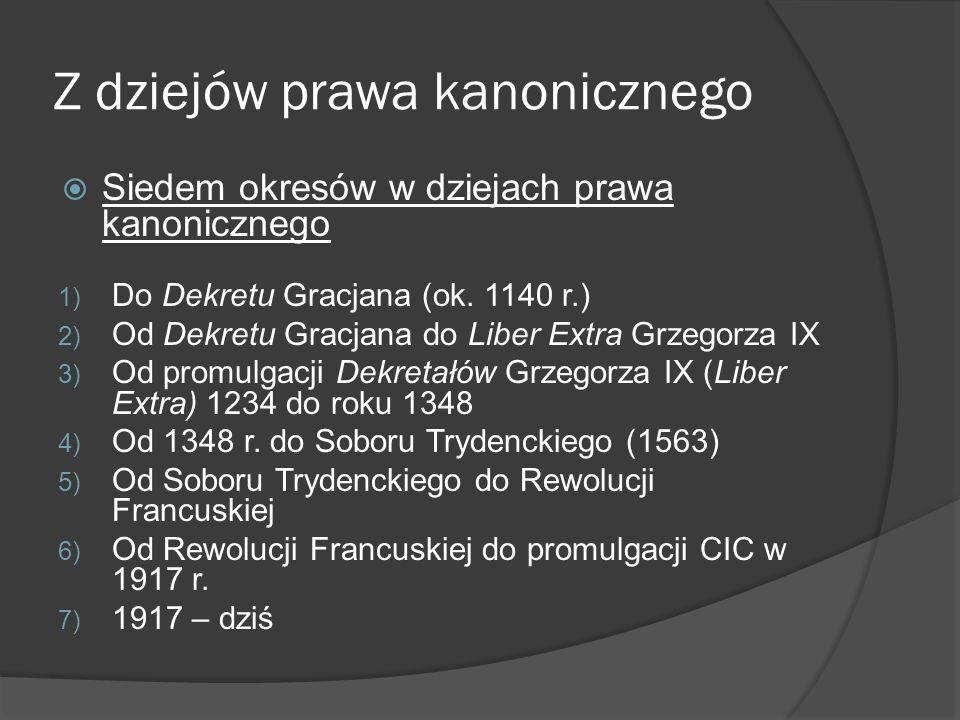 Z dziejów prawa kanonicznego
