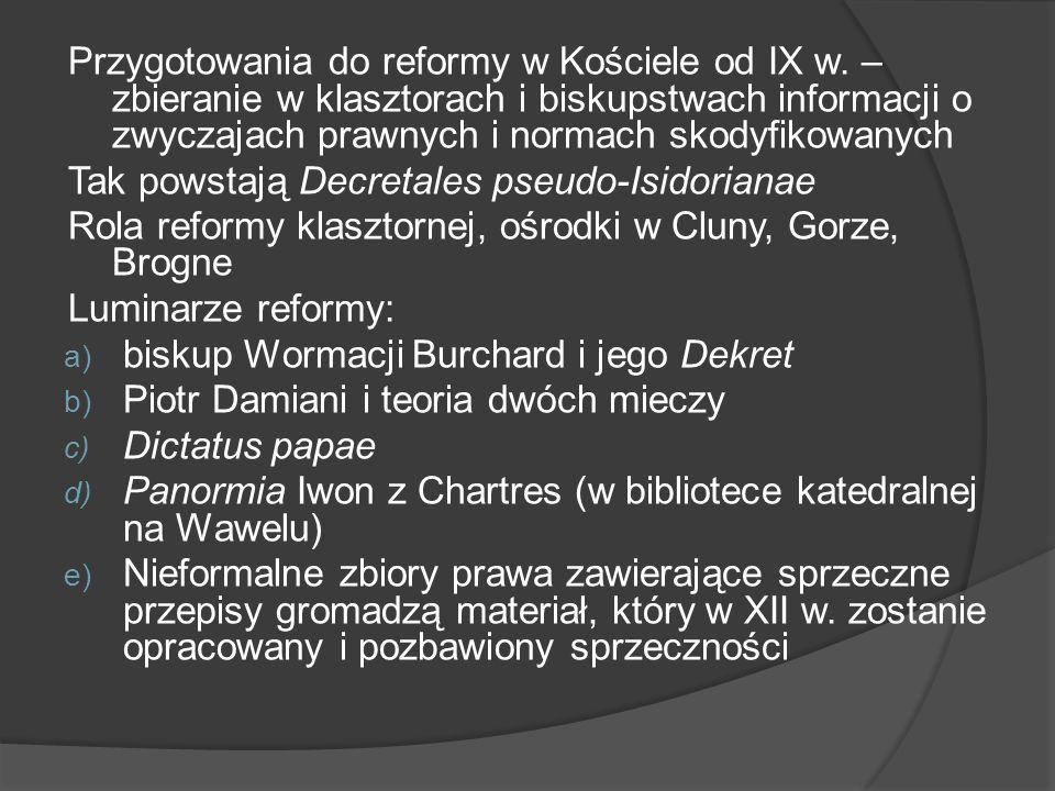 Przygotowania do reformy w Kościele od IX w