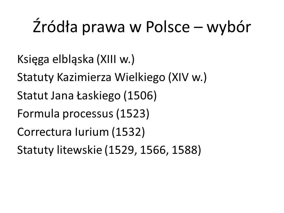 Źródła prawa w Polsce – wybór