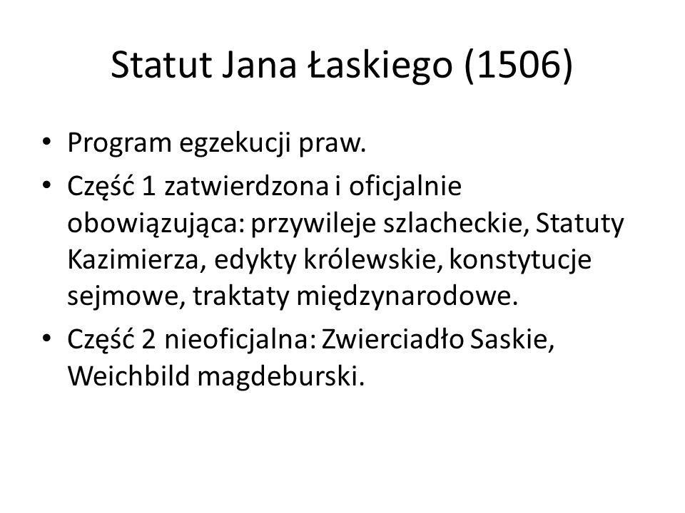 Statut Jana Łaskiego (1506)
