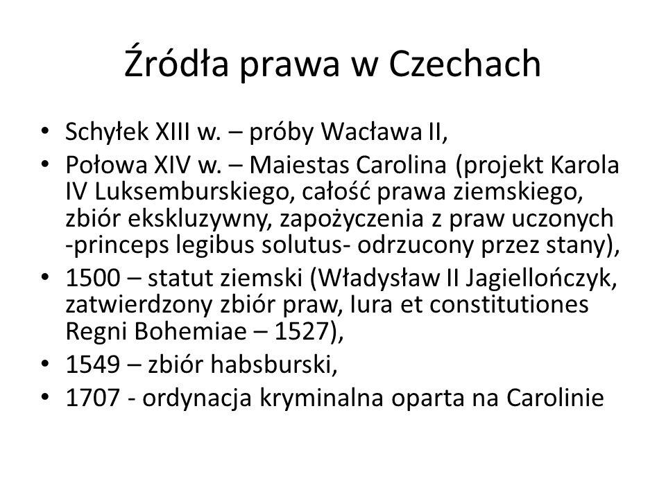 Źródła prawa w Czechach