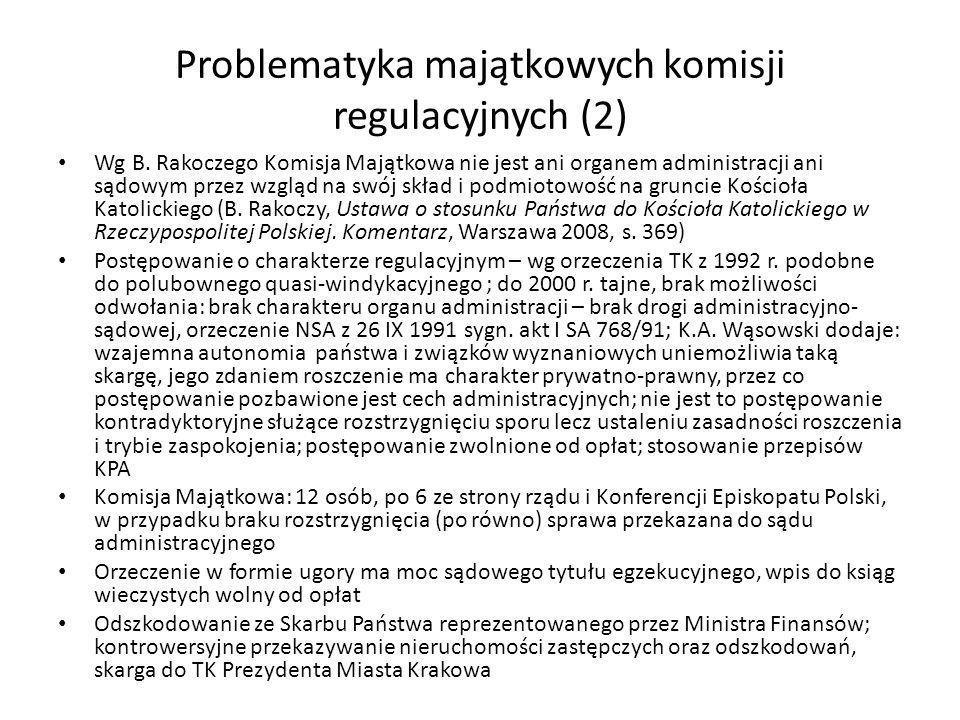 Problematyka majątkowych komisji regulacyjnych (2)