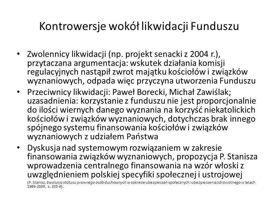 Kontrowersje wokół likwidacji Funduszu
