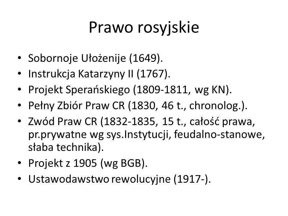 Prawo rosyjskie Sobornoje Ułożenije (1649).