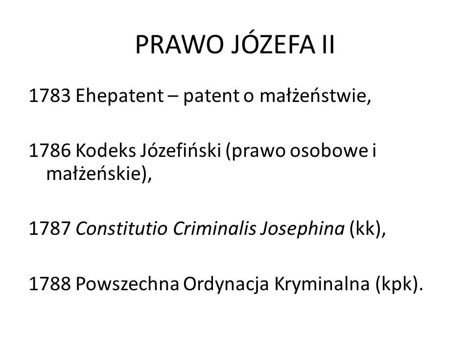 PRAWO JÓZEFA II