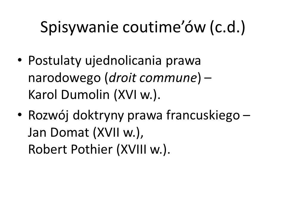 Spisywanie coutime'ów (c.d.)