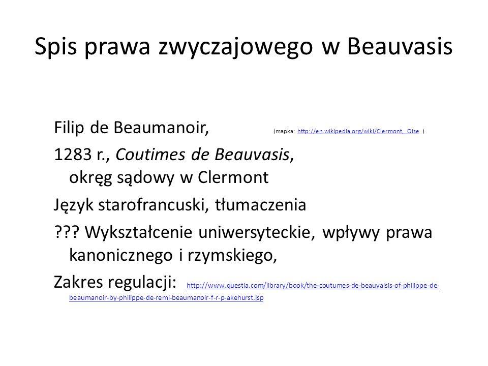 Spis prawa zwyczajowego w Beauvasis
