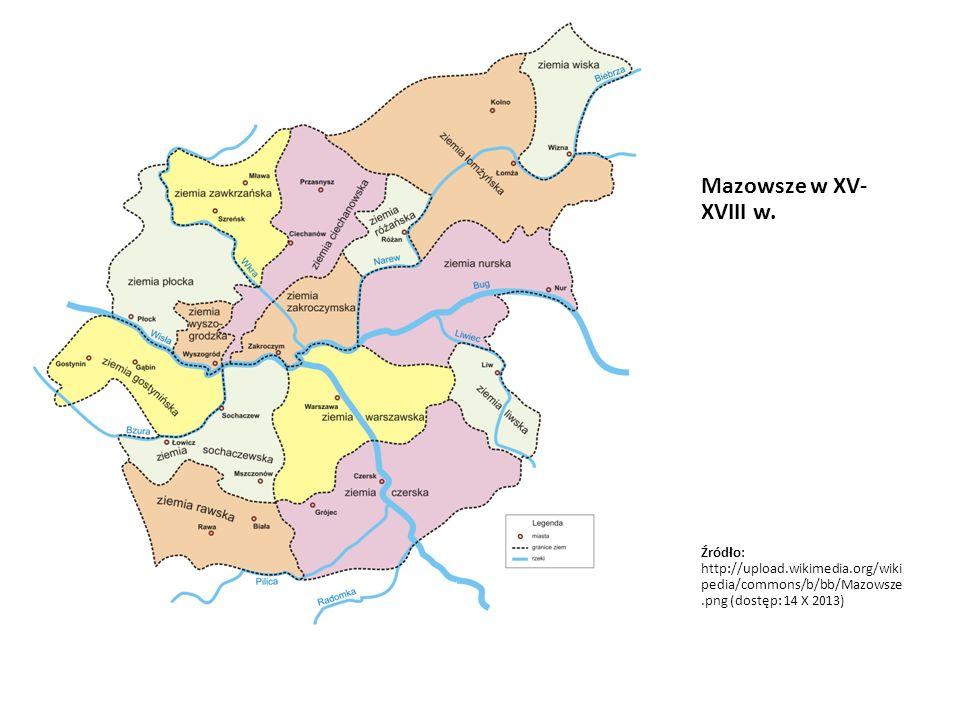Mazowsze w XV-XVIII w.