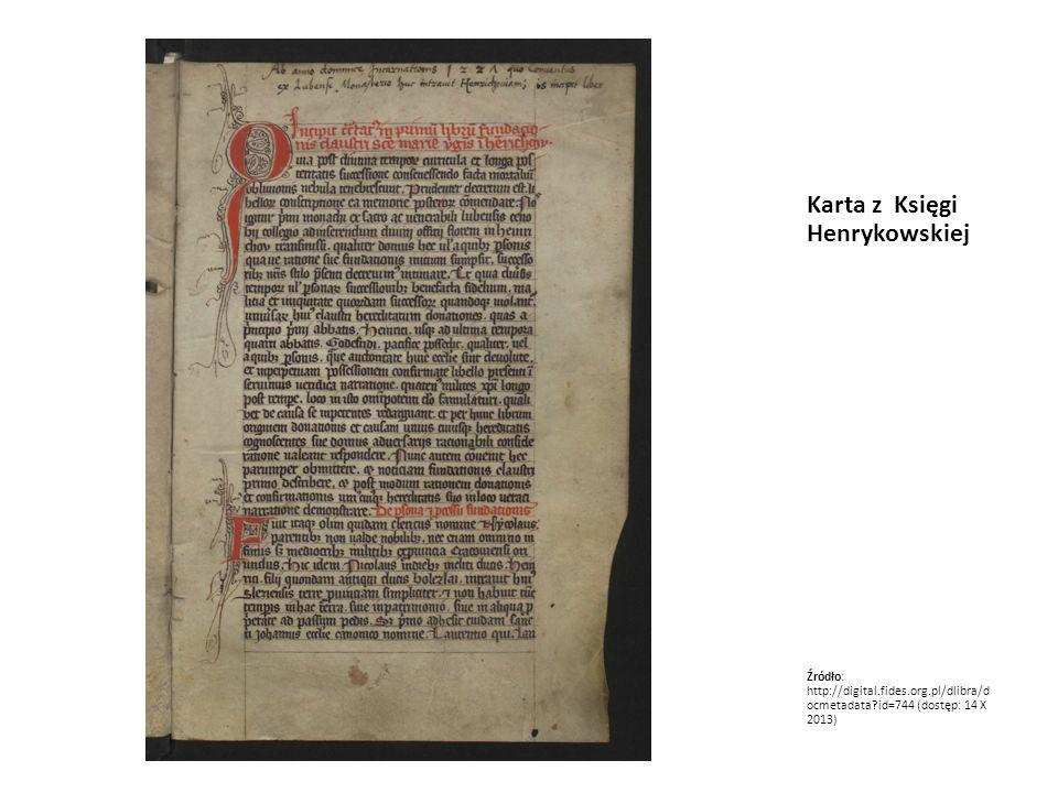 Karta z Księgi Henrykowskiej
