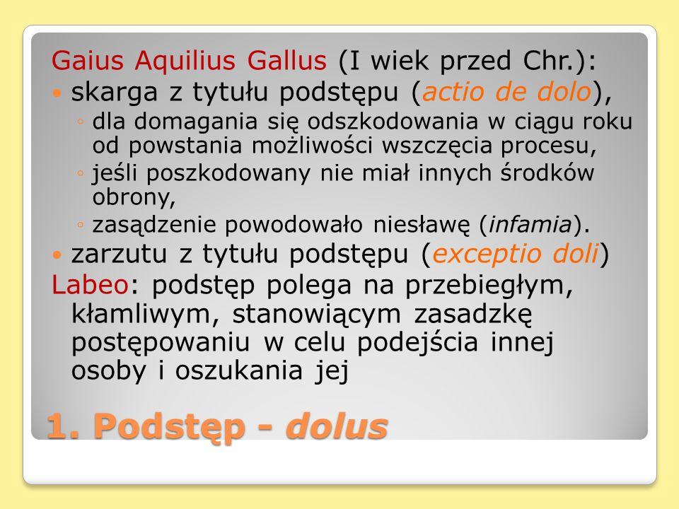 1. Podstęp - dolus Gaius Aquilius Gallus (I wiek przed Chr.):