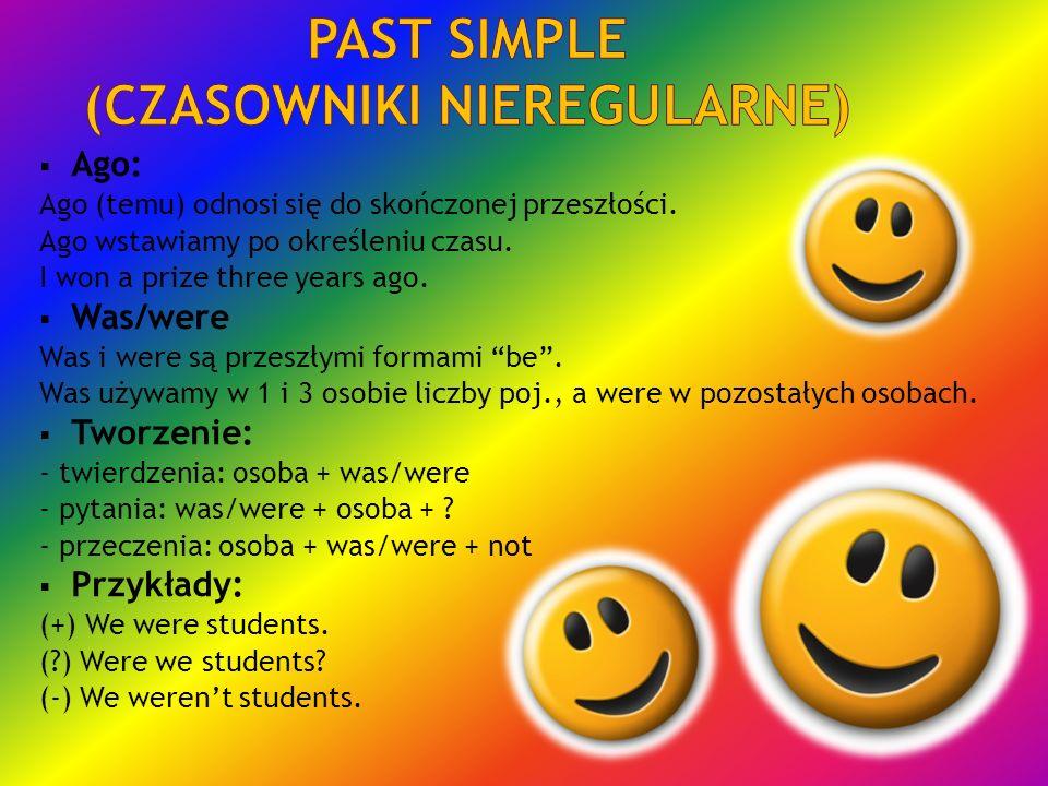Past simple (czasowniki nieregularne)