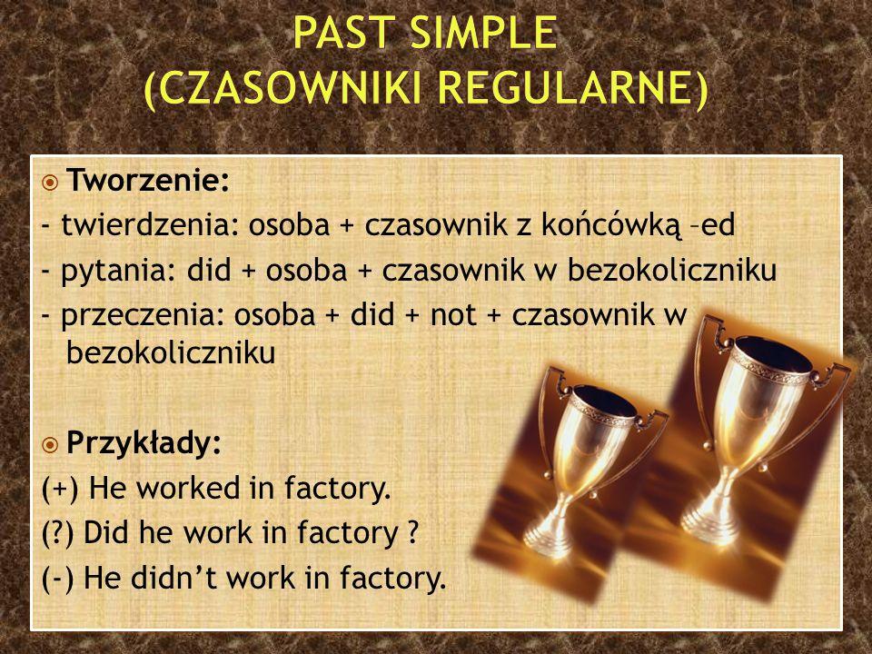 Past Simple (czasowniki regularne)