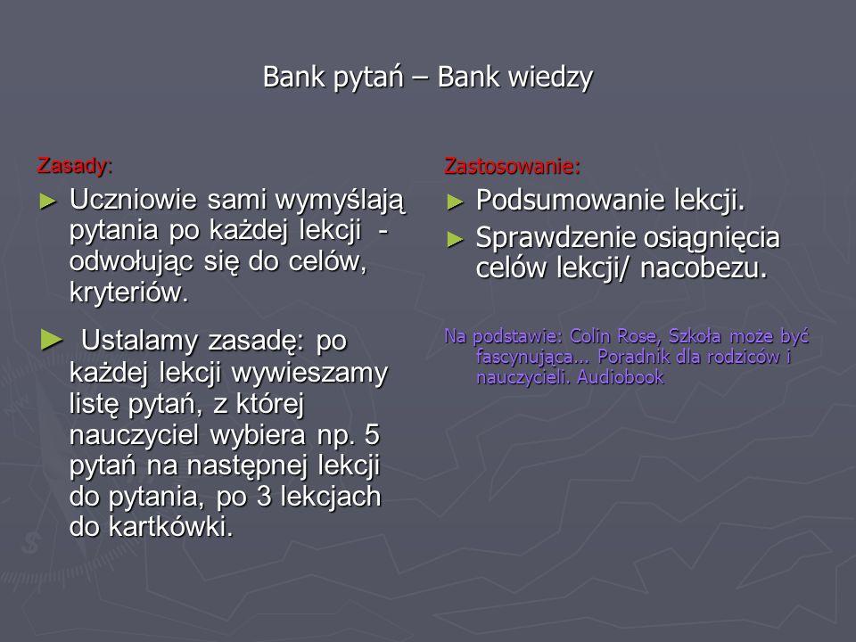 Bank pytań – Bank wiedzy