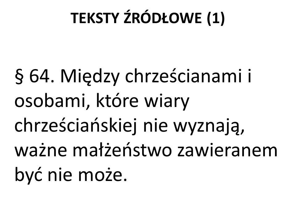 TEKSTY ŹRÓDŁOWE (1) § 64.