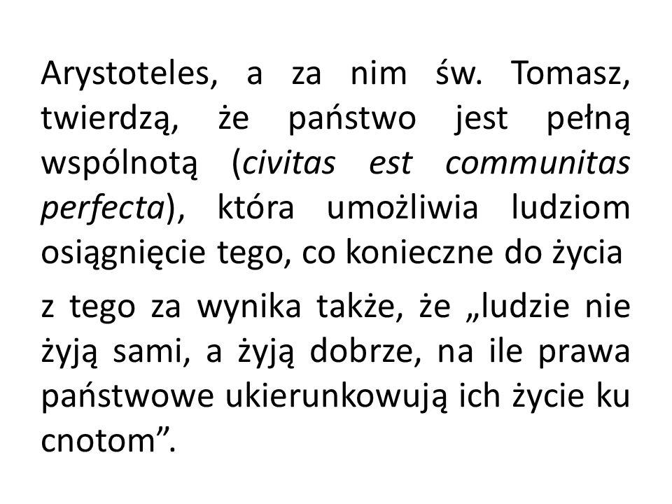 Arystoteles, a za nim św.
