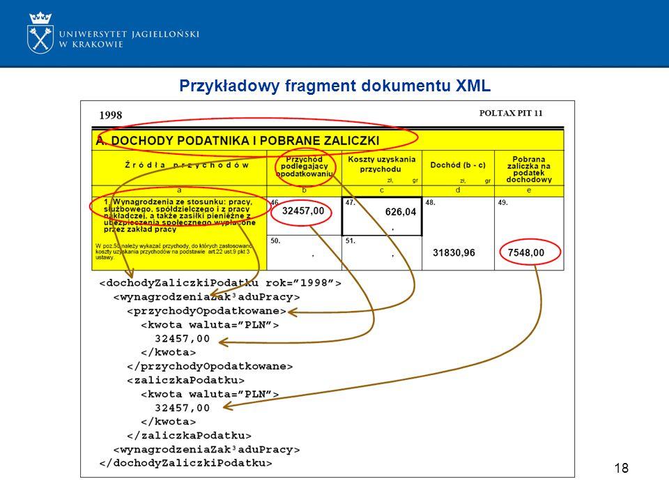 Przykładowy fragment dokumentu XML