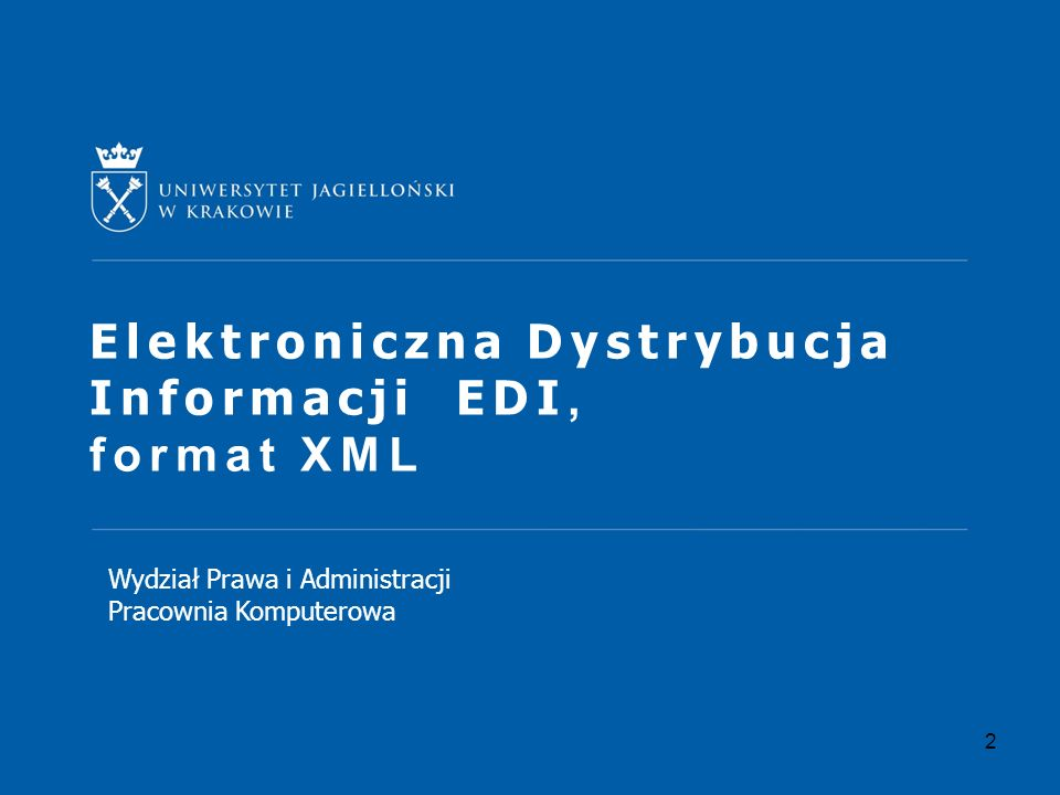 Elektroniczna Dystrybucja Informacji EDI, format XML