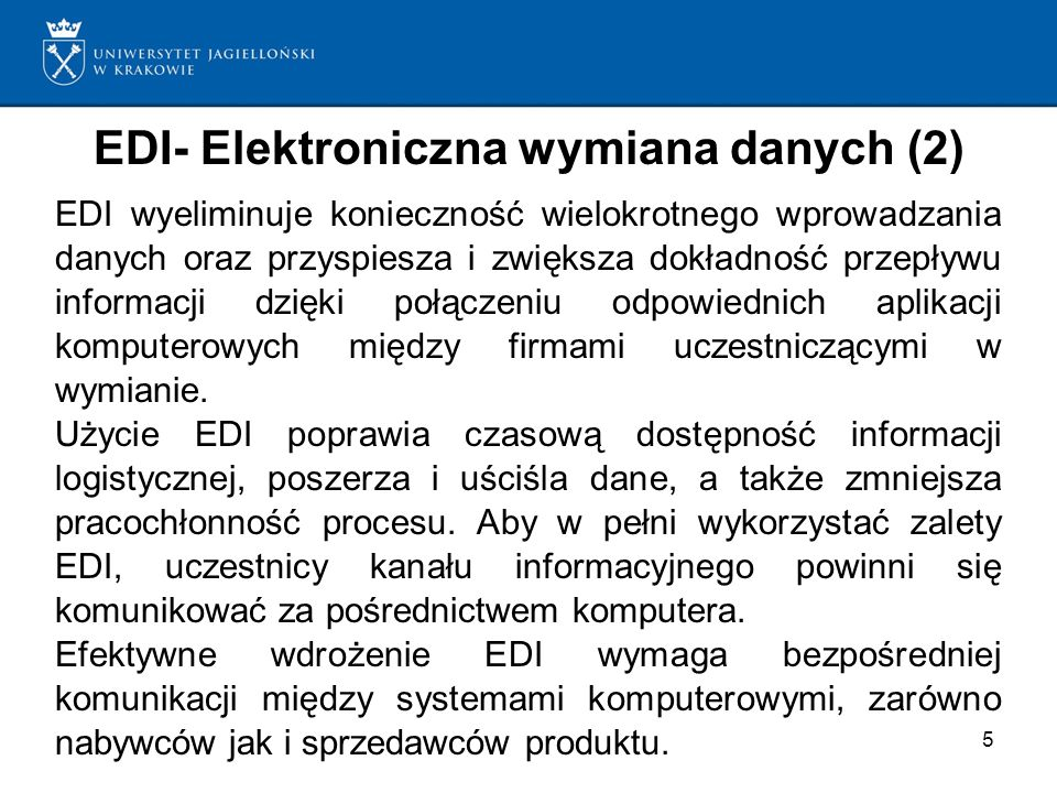 EDI- Elektroniczna wymiana danych (2)