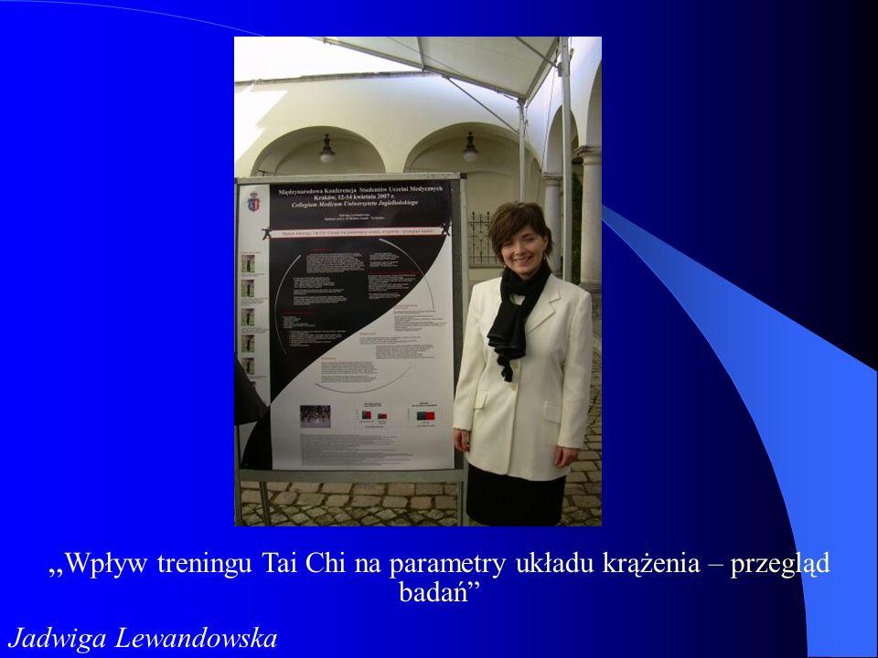 """""""Wpływ treningu Tai Chi na parametry układu krążenia – przegląd badań"""