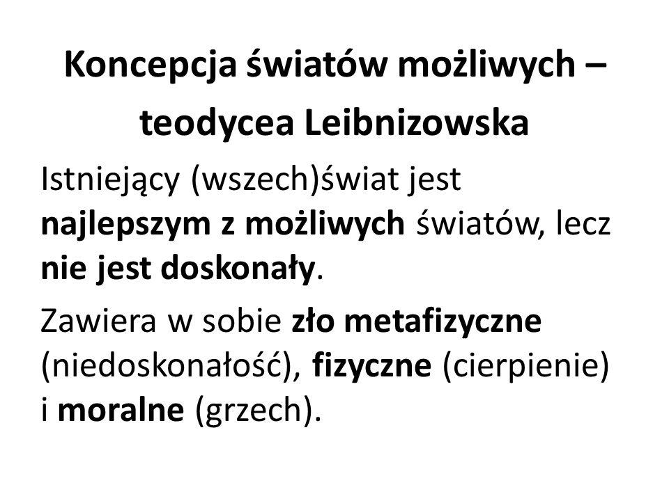 Koncepcja światów możliwych – teodycea Leibnizowska