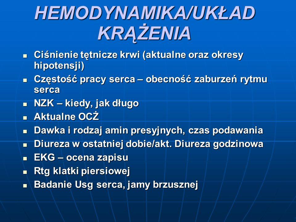 HEMODYNAMIKA/UKŁAD KRĄŻENIA