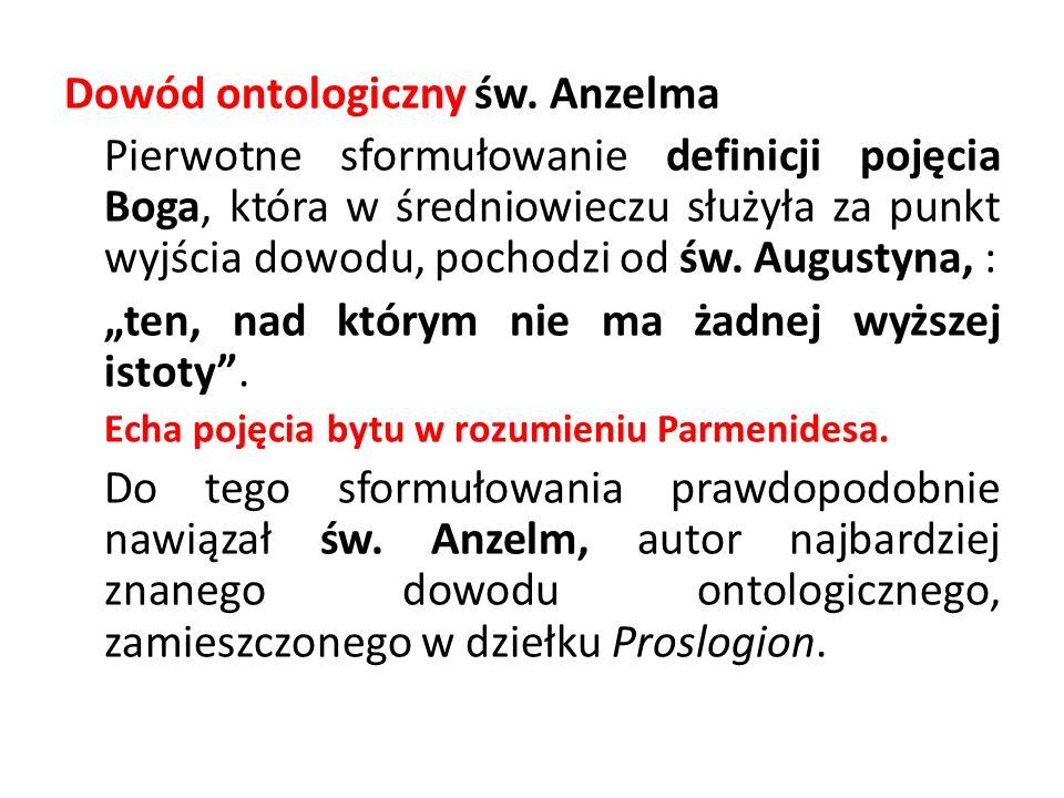 Dowód ontologiczny św. Anzelma