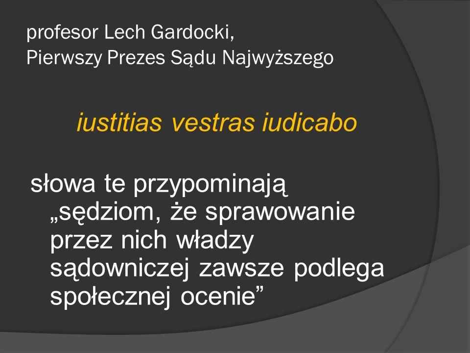 profesor Lech Gardocki, Pierwszy Prezes Sądu Najwyższego