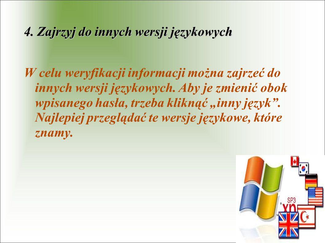 4. Zajrzyj do innych wersji językowych