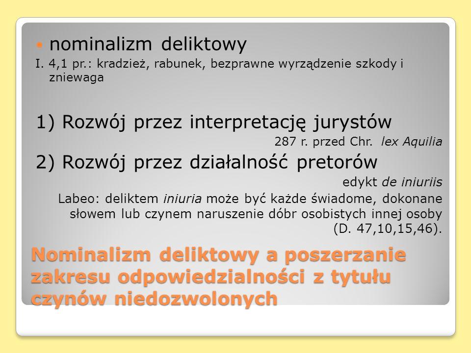 1) Rozwój przez interpretację jurystów