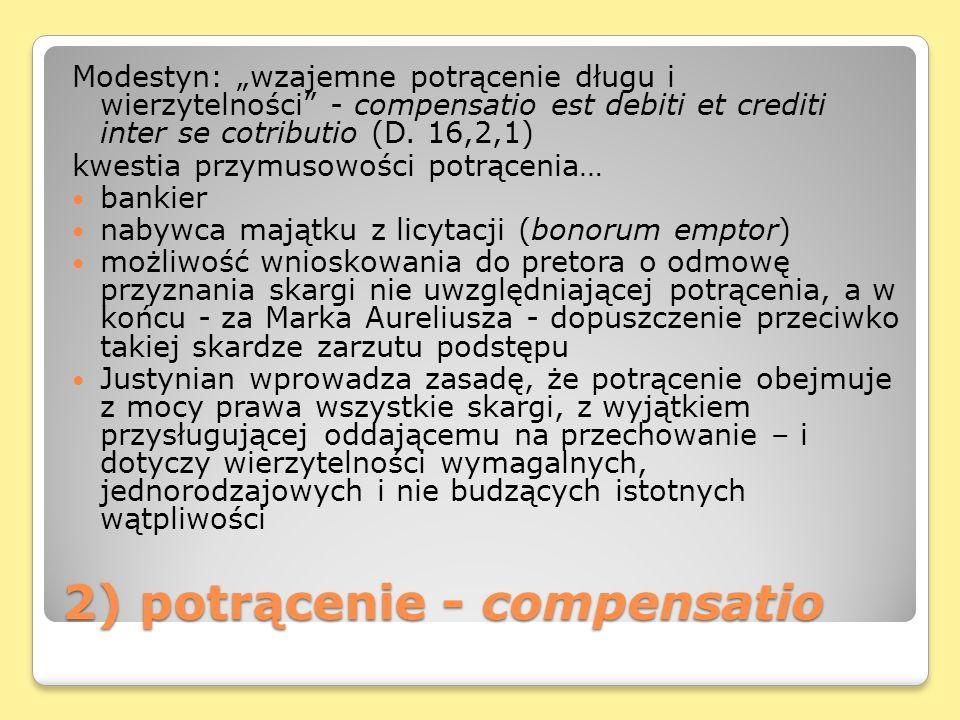 2) potrącenie - compensatio