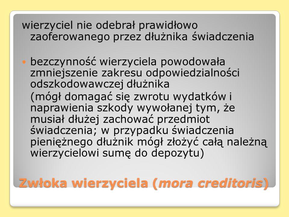 Zwłoka wierzyciela (mora creditoris)