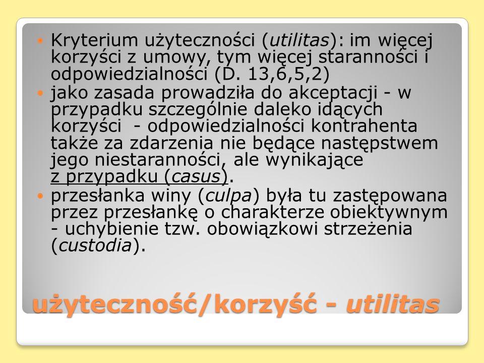 użyteczność/korzyść - utilitas