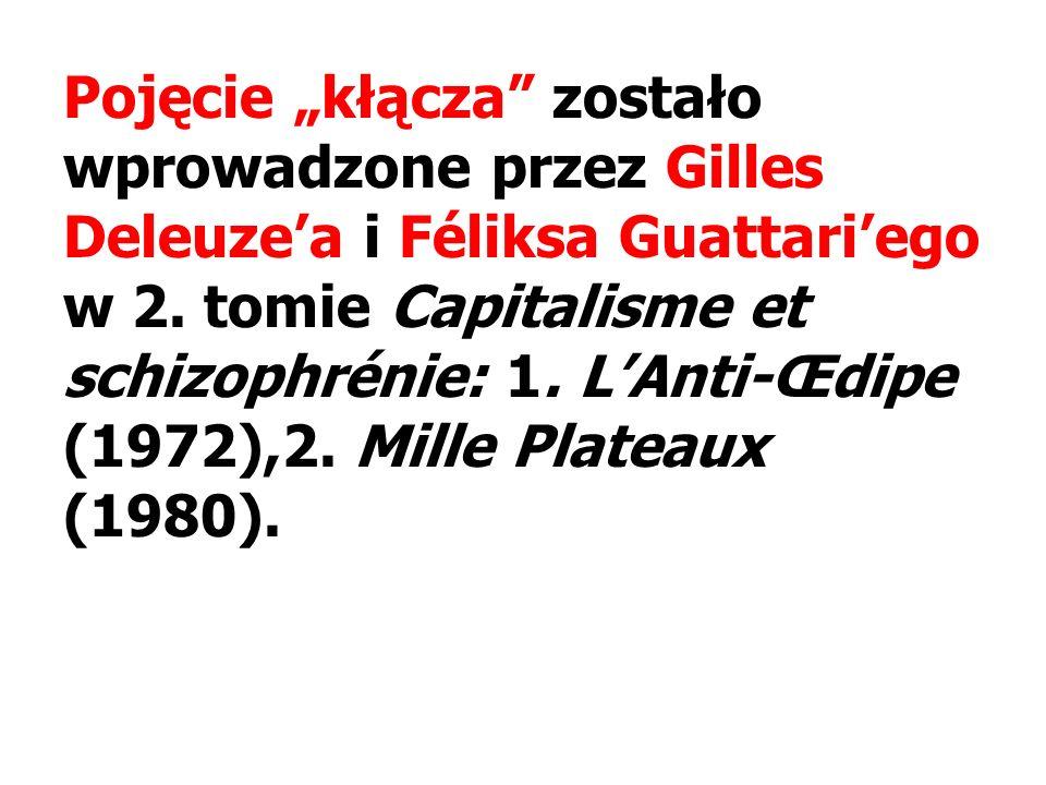 """Pojęcie """"kłącza zostało wprowadzone przez Gilles Deleuze'a i Féliksa Guattari'ego w 2."""