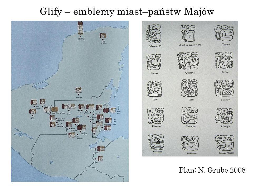 Glify – emblemy miast–państw Majów